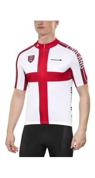 Endura CoolMax England II Jersey korte mouwen Heren rood/wit